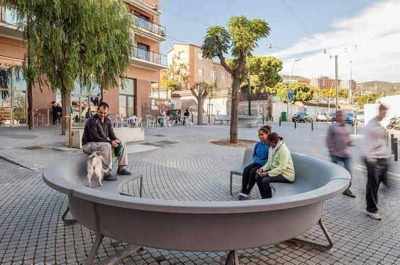 concret bench design escofet
