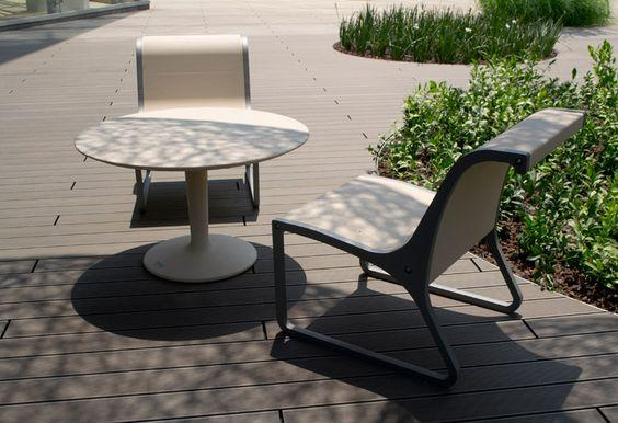 concret table and chair